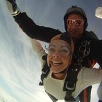 Morven looking gorgeous over Whangarei with Skydive Ballistic Blondes