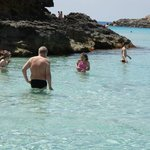 Scaring kids at Comino island, Malta