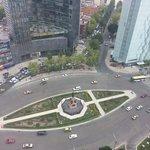 Vista desde piso alto del Hotel Fiesta Americana a unos pasos del Monumento