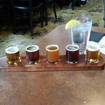 A sample platter of beer