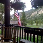 View from the porch at the main lodge