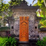 beautiful Bali's tranditional door.