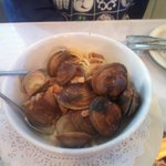 Clams and linguine were packed with clams and fresh pasta