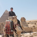 A Life Goal - riding a camel around the pyramids and Great Sphinx