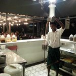 Ajay in action brewing an Indian Style Tea