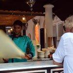 Ayaj preparing the Roti Canai