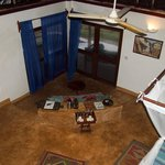 View from loft inside hut