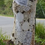 Linen doily wrapped tree