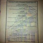 Antoine's menu