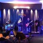 Live band at lift lobby