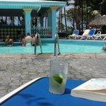Swim-up bar at the pool.