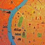 Stadtkarte, natürlich selbstgemalt!