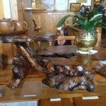 Kauri tea service on a cool table