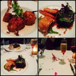 Great food: King Prawn, beef tenderloin