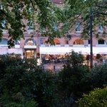 Place Wilson: eine kleine grüne Oase mit Karussell, Skulpturen und Springbrunnen