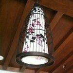 detail of beautiful celing light sofu hotel