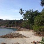 Resort's private beach