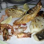 Seafood for the three course dinner