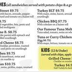 The regular menu part 2