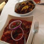 Jalfrezi balti and saag aloo