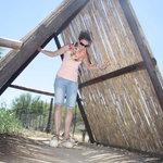 standing on the ostrich eggs #Safari Ostrich Farm
