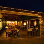 outside bar /lounge at night