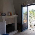 Junior suite nr. 14, door to the terrasse