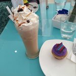 Fabulous Ice Coffee and Cupcake
