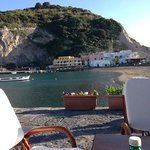 View from Bar in Sant'Angelo of the island opposite