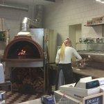 Preparing my pizza