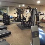 Great gym with free weights, a radio and a tv!
