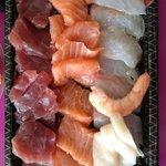 sashimi dans sa barquette a emporter
