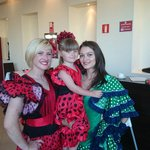 My daughter dressed for Spanish night.with kirsty & alina