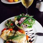 Linefish with salad.