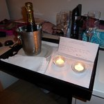 Champagne gift from hotel