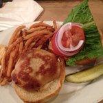 crabcake sandwich with brine fries