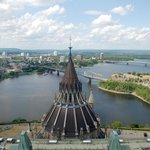 Ottawa River view from the Peace Tower