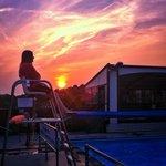 Sunset at Hathersage Pool