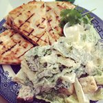 Chicken quesadilla with Caesar salad