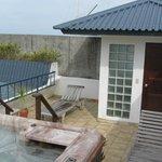 Dachterrasse mit 2 privaten Liegen des Zimmer 301