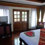 bedroom in pool villa