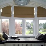 Large bay window with picturesque views