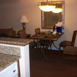 Dining in the suite at Desert Rose Resort