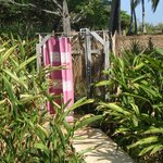I loved this outdoor shower!
