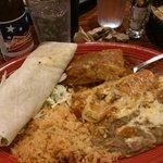 burrito messicano e birra americana