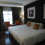 Bedroom with huge bed