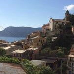 View of Vernazza from Villa Sophia terrace!