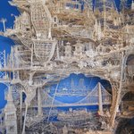 Amazing kinetic toothpick sculpture of SF
