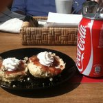 Scone and Coke at Smithys!