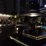 Rooftop bar with great DJ